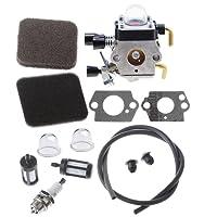 HIPA Carburateur avec Filtre à Air pour Débroussailleuse STIHL HS80 HS85 HL75 HL75K FH75 HT70 HT75 KM80 KM85 KM85R SP80 SP85 FC75 FC85