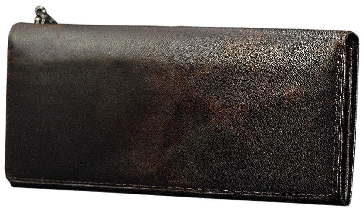 ソラチナ SOLATINA 長財布 ホースレザー焦がし加工シリーズ SW-38152 メンズ B014P5L568 ブラウン