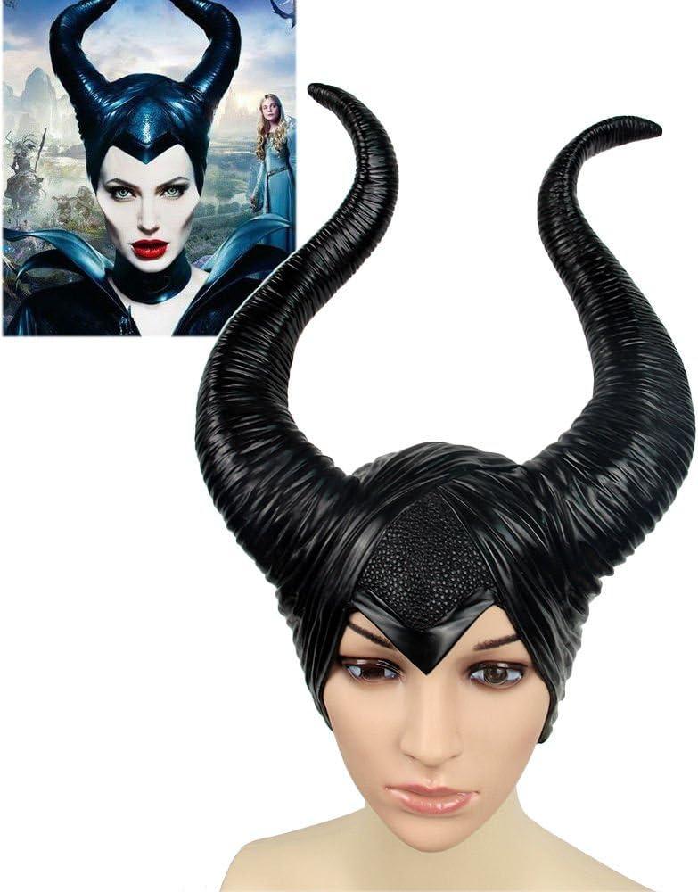 2019 Maleficent 2 Hat Deluxe Horns Evil Black Queen Headpiece Halloween Prop New
