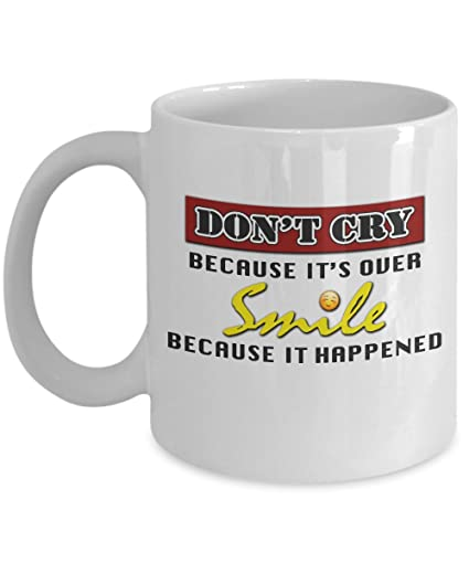 Amazon.com: Crazy Ex Girlfriend Mug - Don\'t Cry Because It\'s Over ...