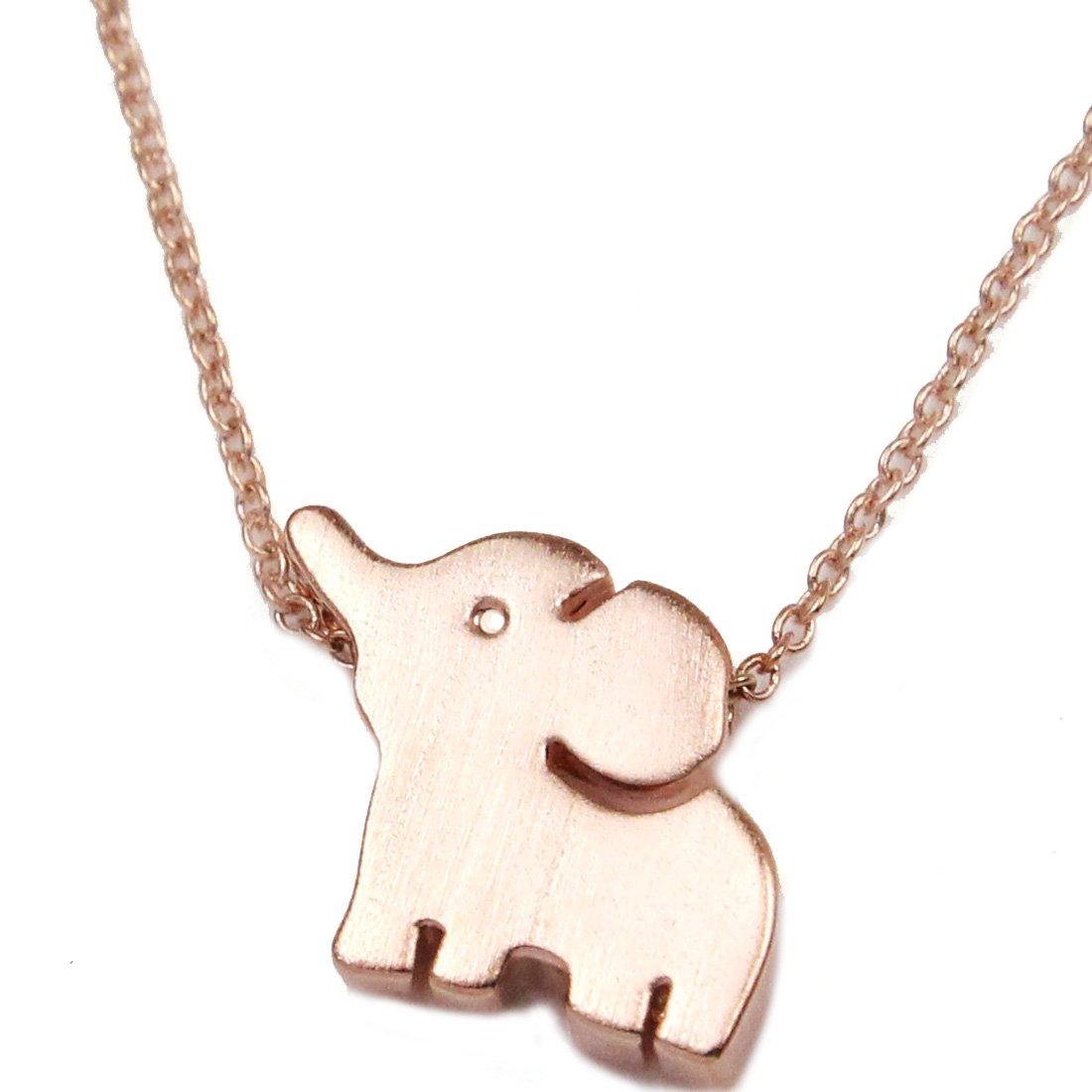 FC Rose Gold GP None Stone Elephant Pendant Necklace