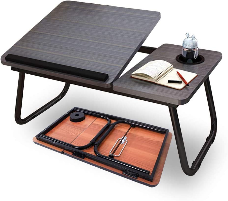 Highger Lap Desk - Fits up to 17 inches Laptop Desk for Bed and Sofa,Portable Bed Trays for Eating Writing Reading Notebook Holder & Stand,Adjustable & Foldable