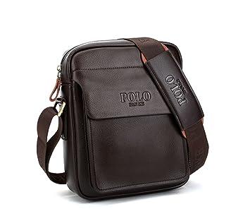 e78f6f077875 POLO FEILUN Men s Genuine Leather PU Shoulder Bag Messenger Bags Business  Briefcase Composite Leather Classic