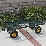 Best Choice Products® Wagon Garden Cart Nursery Trailer Heavy Duty Cart Yard Gardening Patio New