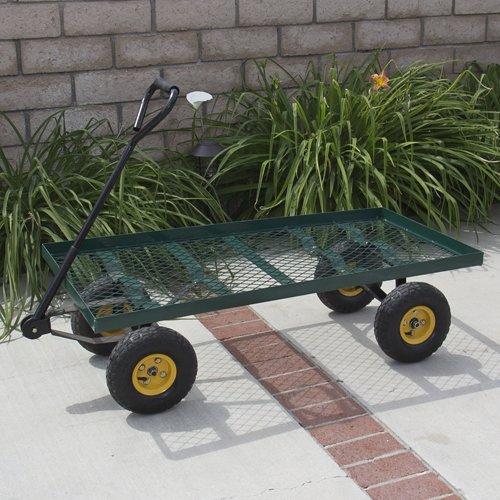Nursery Wagon Garden Cart (Best Choice Products Wagon Garden Cart Nursery Trailer Heavy Duty Cart Yard Gardening Patio)