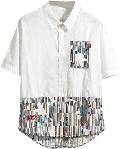 Camisas Hombre Manga Corta BEENIO Camisas Casual para Hombre ...