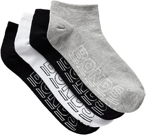Bonds Men's Logo Light Low Cut Sport Socks (4 Pairs)