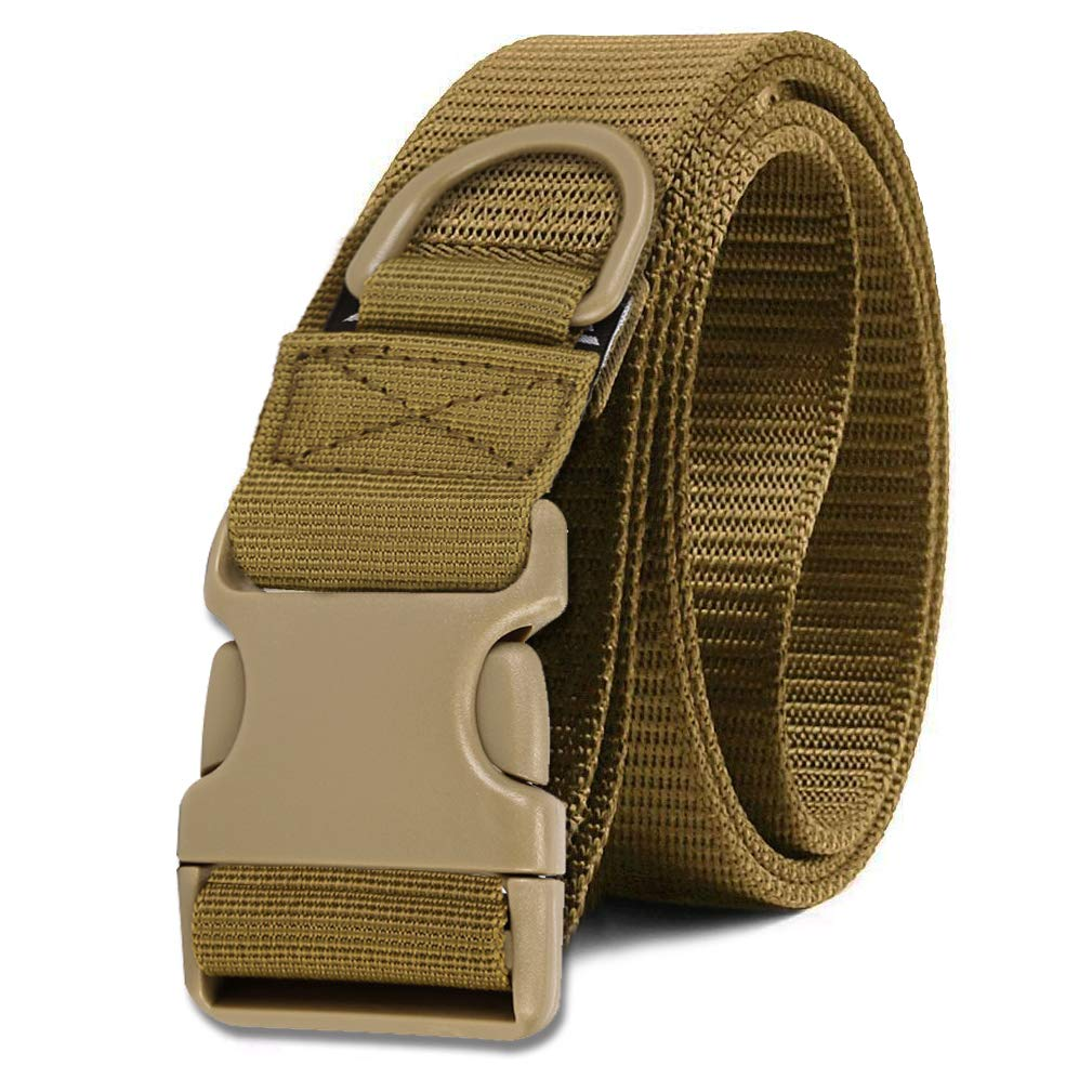 Selighting Cinturón Molle Táctica Militar de Nylón, Correa Policia de Seguridad para Airsoft, Caza, Deportes al Aire Libre (Brown - Coyote)