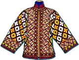RARE TURKMEN UZBEK BEAUTIFUL FULLY HANDMADE EMBROIDERY NATURAL SILK JACKET T893