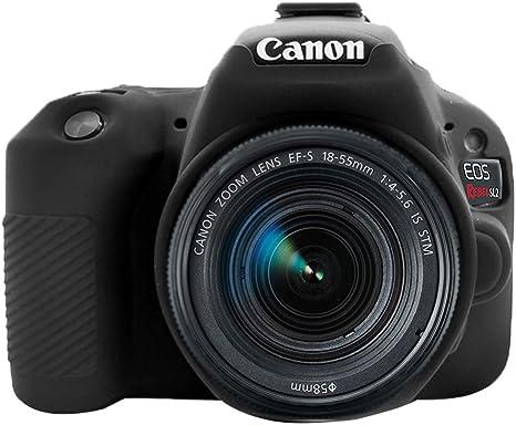 Imagen deNegro Silicona Funda para Suave Silicona Goma cámara Protectora Funda para Canon EOS 200D / Rebel SL2 / Kiss X9