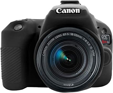 First2savv Yellow Soft Silicone Armor Skin Rubber Protective Camera Case for Canon EOS 200D Rebel SL2 SL3 Kiss X9 SX-EOS 200D-GJ-yellow