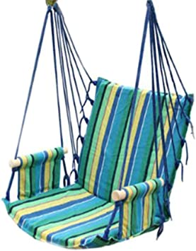 Amazon Com Ranranhome Ronronhome Hammock Chair Stripe Casual