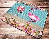 Flamingo Beach Floral Mouse Pad Desk Accessories for Women Computer Home School Office Mousepad