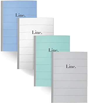 Composition Notebook Blank Paper Plain Cover Design with Blank Pages All Blank, 4 Pack B5 Size 9.5 x 6.9 inch,100gsm Paper,50 Sheets//100 Pages