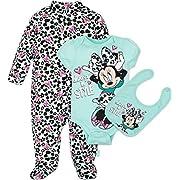 Disney Baby Minnie Mouse 3 Piece Layette Set, Mint, 0-3 Months