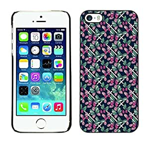 PatternViking PC Polycarbonate Aluminium Back Case Cover Apple iPhone 5 / 5S ( assorted butterfly )