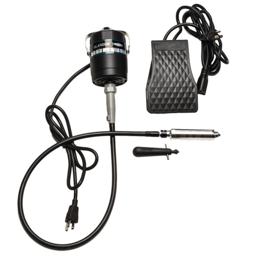 Glardon-Vallorbe Flex Shaft #30 Handpiece & Foot Pedal 1/8 HP 20,000 RPM 115V