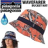 PATAGONIA パタゴニア ハット WAVEFARER BUCKET HAT HWCO HAWAIIAN FISH CUSCO ORANGE 撥水加工 DWR バケットハット PATAGONIA キャップ 帽子HWこ