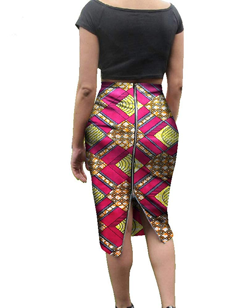 c010b8b085 FEATURES: High waisted, Geometric printed, Aztec Print, Dashiki Style,  Tribal Printed, Back Zipper, Pencil Skirt with back slit, Cute mid-calf  skater.