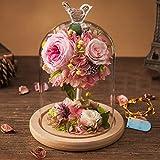 Linge de lit soft bag,Immortal flower glass boxes ?????? [light] Party decorations Natural flower material-A 14x20cm(6x8inch)