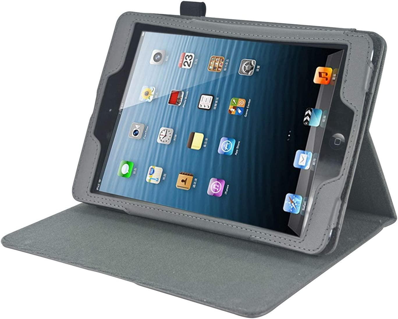 Navitech Grey Frontier Series Fitted Tablet Case with Headrest Mount Compatible with The Acer ICONIA B1-790-K732 7-Inch Tablet | Acer ICONIA B1-790-K017 7-Inch Tablet