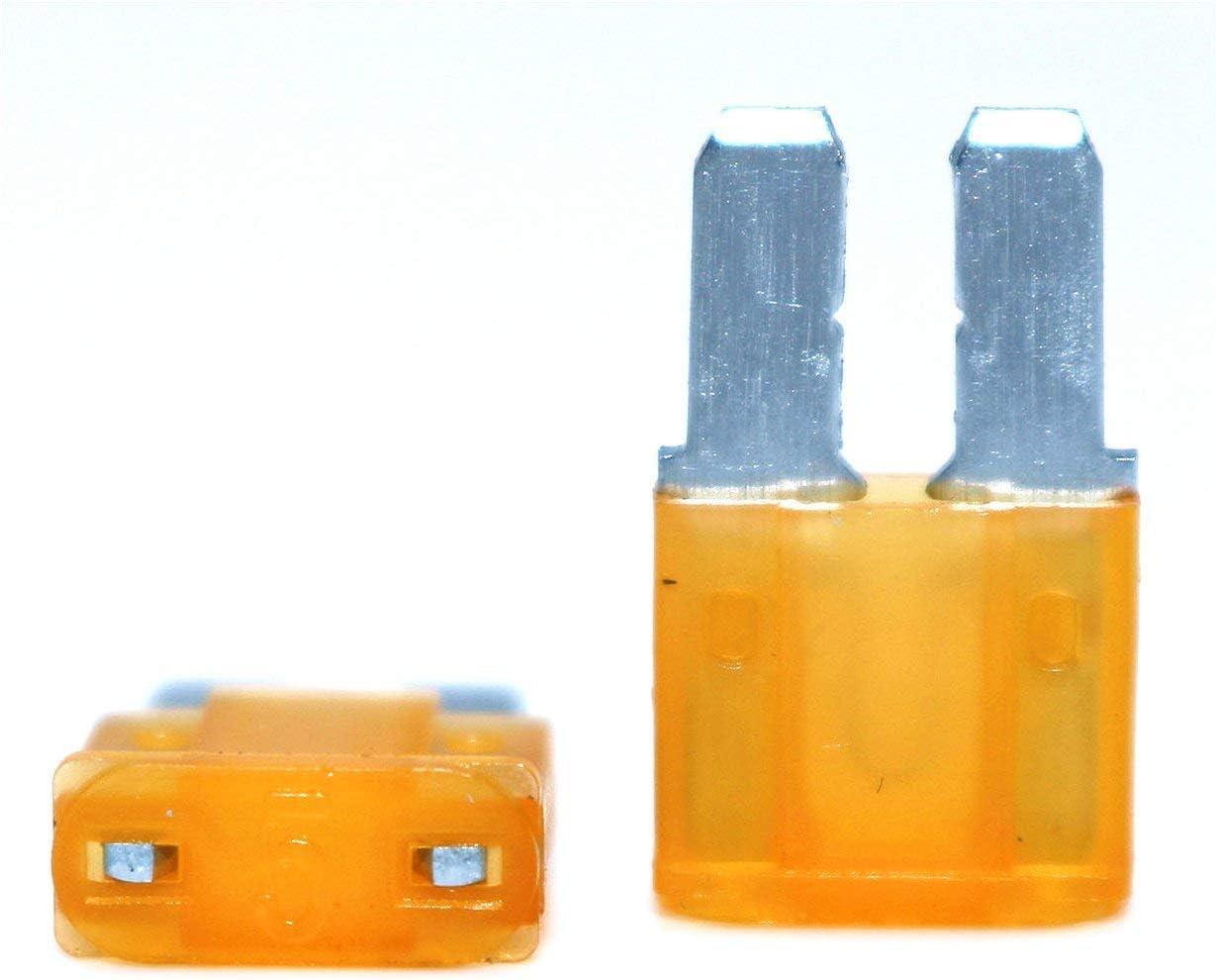 bunt Micro2 ATR Kfz-Sicherungen sortiert 10 St/ück Lumision 5A 7.5A 10A 15A 20A Set Pak Auto Insurance Tablets