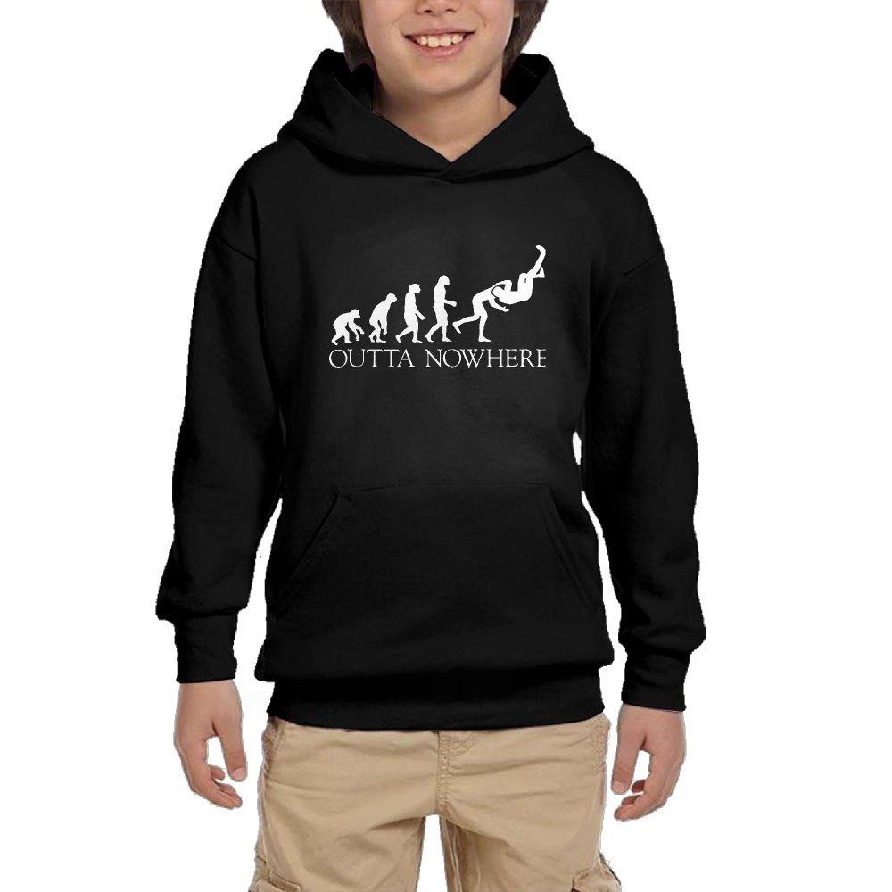 Wrestling Man APE Unisex Teenage Big Pockets Long Sleeve Pullover Hoodie Sweatshirts by LOVWEBABY