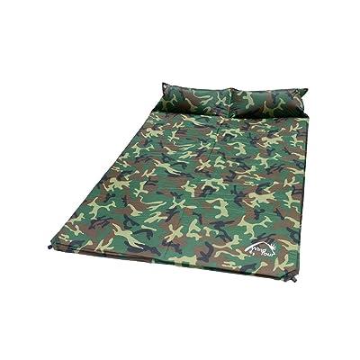 Lit gonflable pliable à l'humidité --- Double camping tente Plus épais Élargi Coussin gonflable automatique Coussin anti-humidité 185 * 130 * 3cm - La haute qualité peut être co
