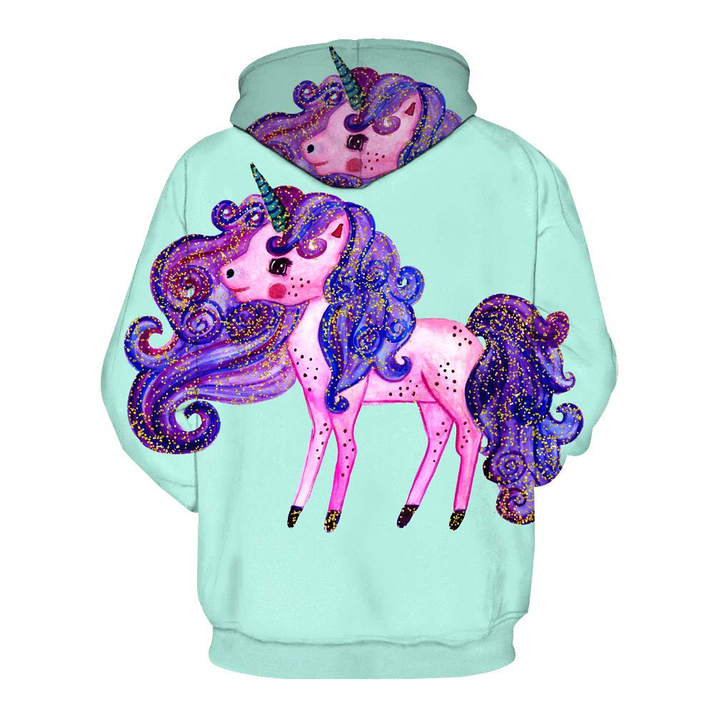 OKSakady Toddler Girls Long Sleeve Hoodie Print Unicorn Jacket Outwear 3-9 Years