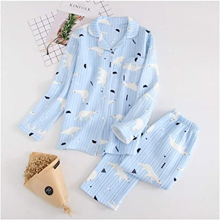 WULIFANG Kawaii Oso Conjuntos De Pijamas Mujer Pijamas ...