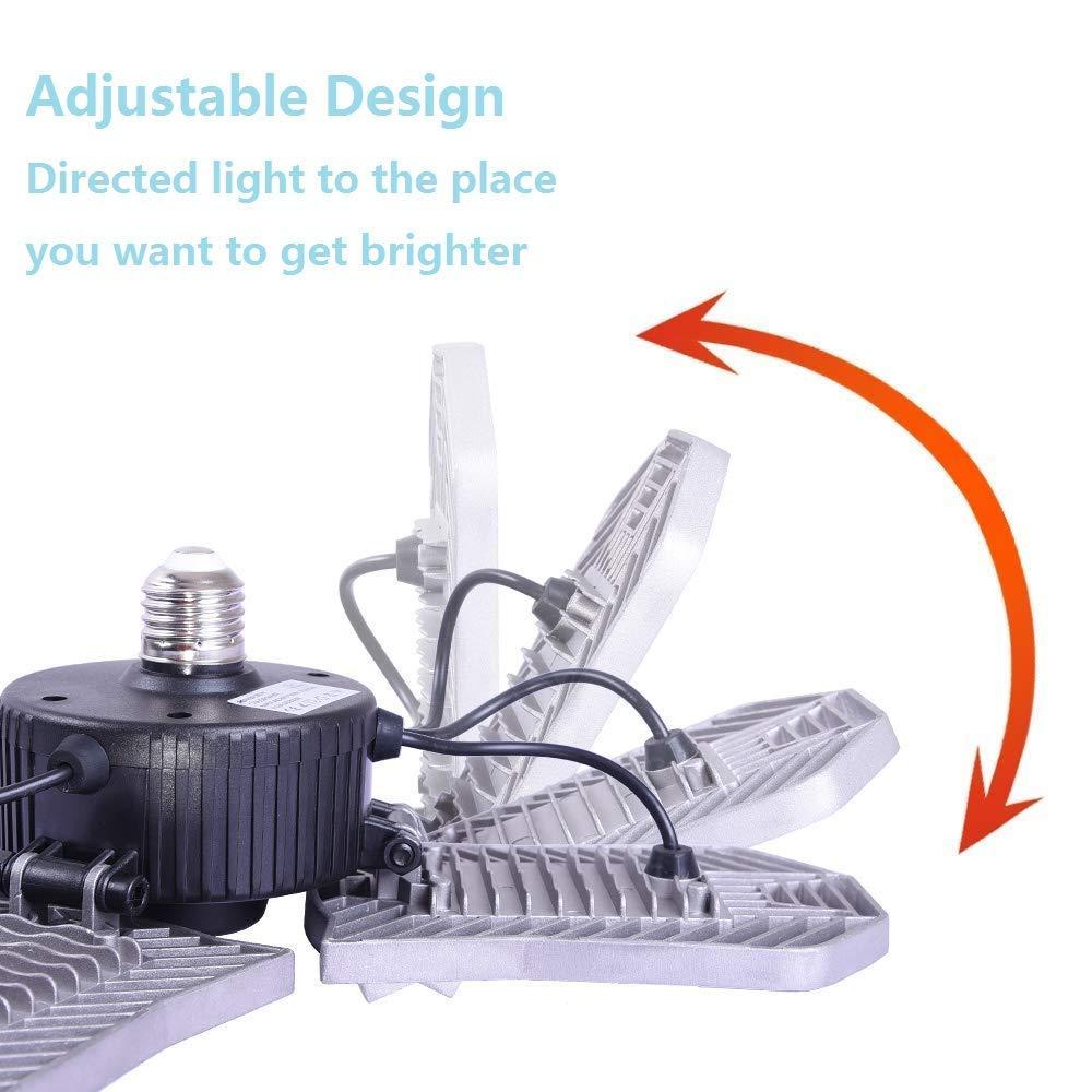 plafoniera in gesso a tutta superficie 60WE26 // E27 magazzino e altre lampade a sensore di movimento. cantina Illuminazione a LED per garage officina garage