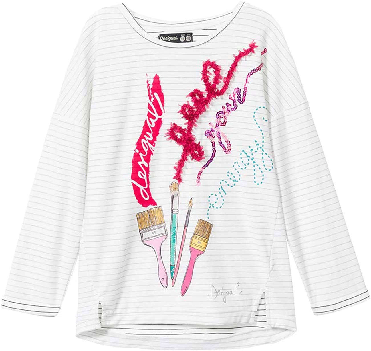 Desigual Girls Newcastle Longsleeve T-Shirt