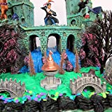 WIZARDING WORLD Deluxe Birthday Cake Topper Set of Witchcraft and Wizardry Featuring Character Figures, Castle and Decorative Accessories