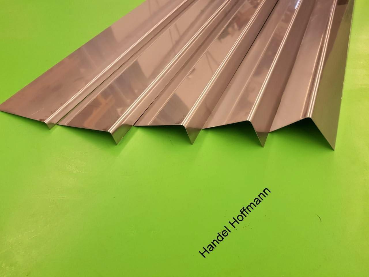 Kantung 125//125 mm Winkelblech 2 m lang Edelstahl 0,6 mm Zuschnitt 25 cm