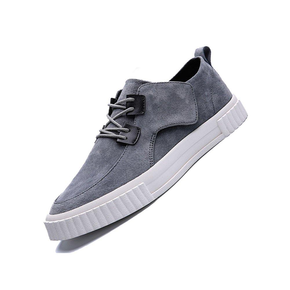 YIXINY Deporte Zapato DP06 Zapatos Casuales Hombre Inglaterra Estudiante Transpirable Zapatos Con Cordones Zapatos De Lona Zapatos Planos 3 Colores ( Color : Gris , Tamaño : EU40/UK7/CN41 ) EU40/UK7/CN41|Gris