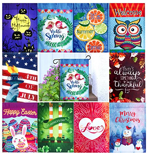 "Seasonal Garden Flag Set of 10 - 12"" x 18"""