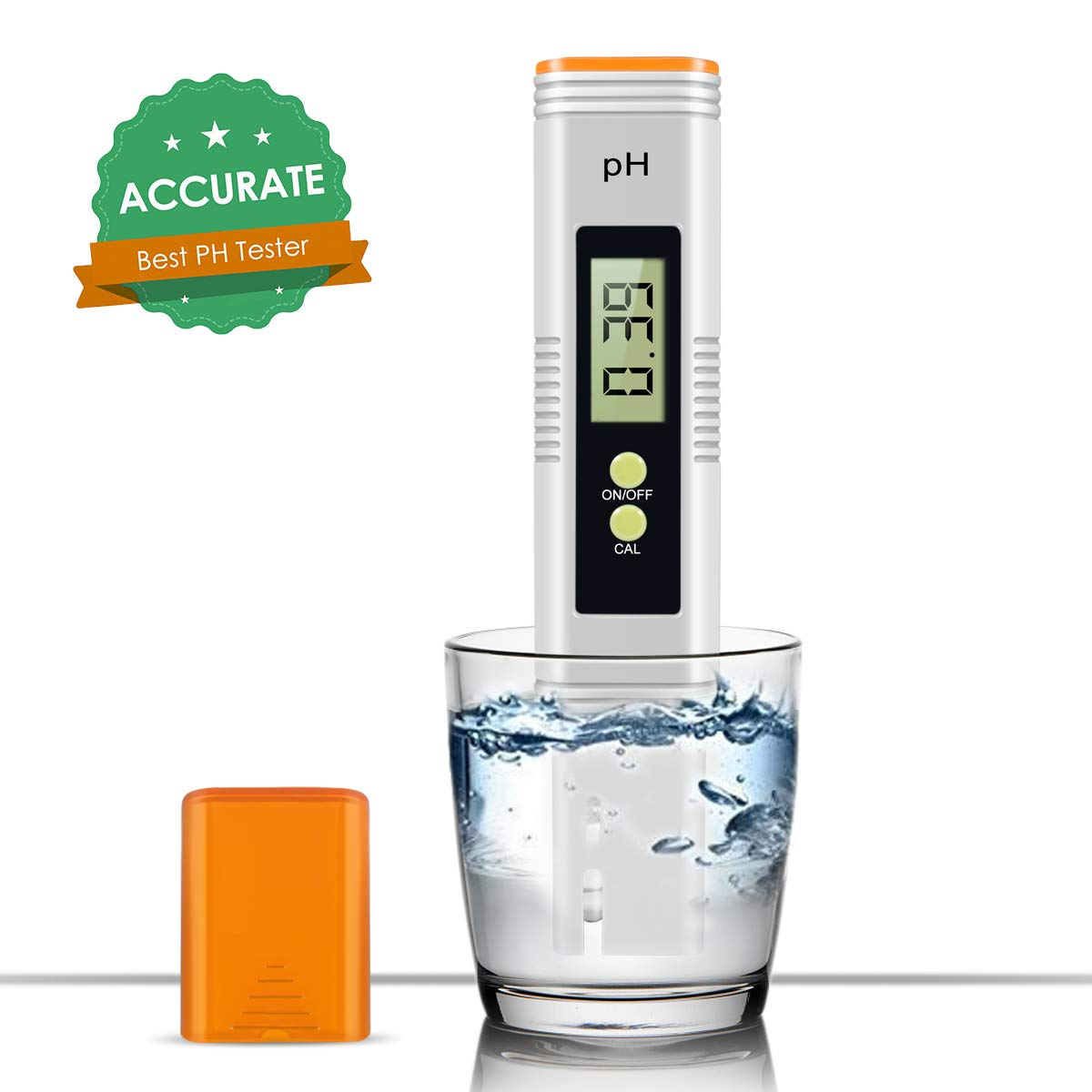 Digital PH Meter, 0.01 PH High Accuracy Pocket Size PH Meter/PH Tester with 0-14.0 Measuring Range, Water Quality Tester for Household Drinking Water, Swimming Pools, Aquarium by MiToo