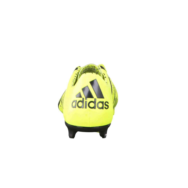 adidas X15.1 FG/AG Leather, Herren Fußballschuhe 46 Schwarz/Grau/Gelb