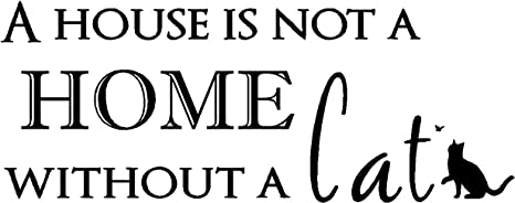 Amazoncom Sticker Perfect A House Is Not A Home Without A Cat Cute
