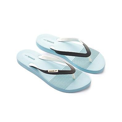 Speedo Saturate Thong Flip Flops, Damen, damen, Saturate Ii Thg Af, Chill Blue/USA Charcoal/W, 8 UK (42 IT)