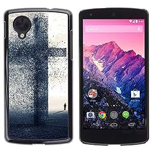 A-type Arte & diseño plástico duro Fundas Cover Cubre Hard Case Cover para LG Nexus 5 D820 D821 (Gran Cruz - Fe)
