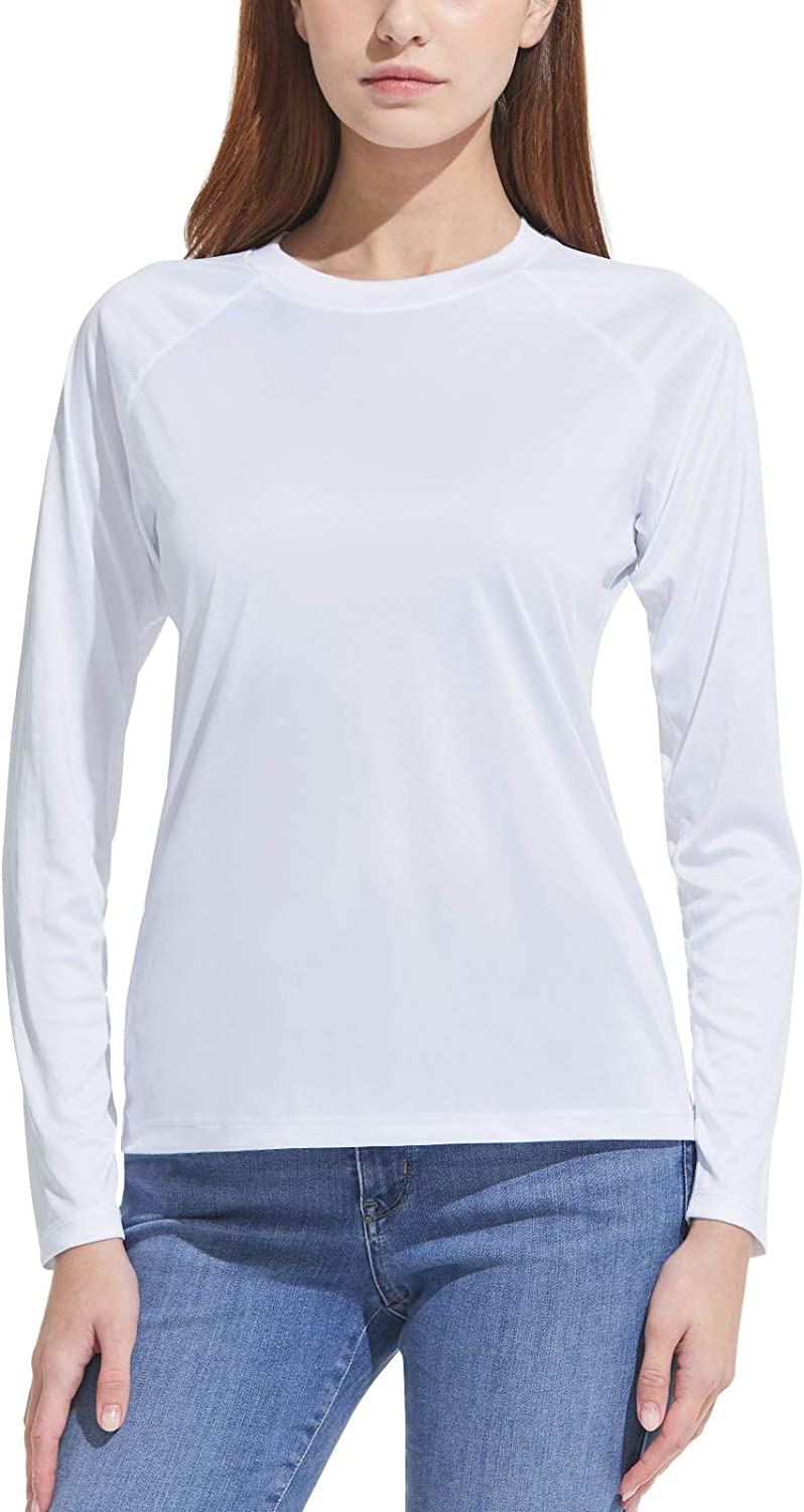 CQR Women's UPF 50+ Long Sleeve UV/Sun Protection T-Shirt, Outdoor Cool Dry Athletic Performance Hiking Shirts