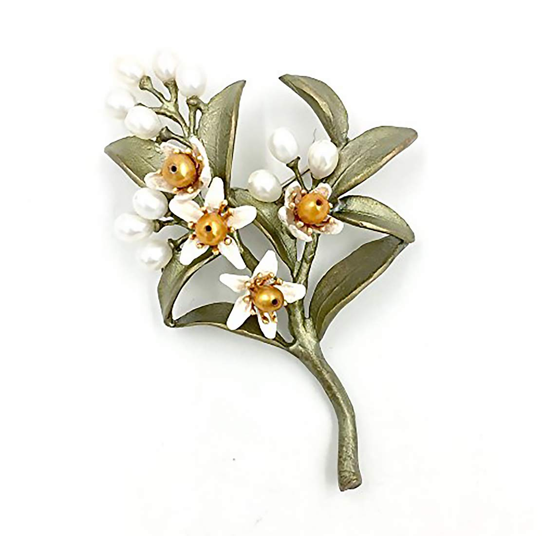 Michael Michaud Orange Blossom Pin Brooch New 5972