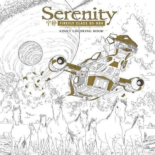 Serenity Adult Coloring Book cover