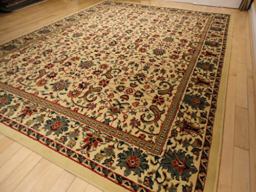 Large 5x8 Traditional Cream Rug Persian Area Rugs Dining Room Carpet Area Rugs 5x7 Clearance Under 50 (Medium 5'x8' Rug)