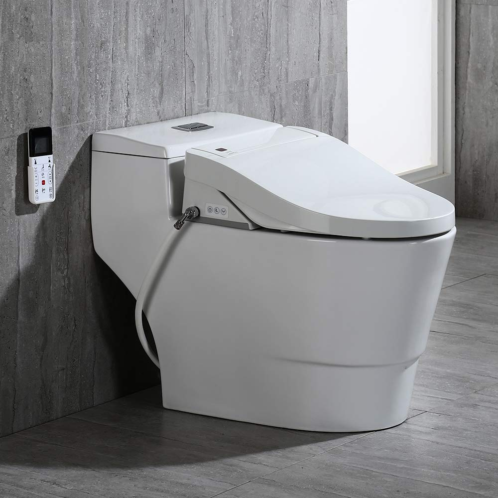 WOODBRIDGE Luxury Elongated One Piece Advanced Smart Seat with Temperature Controlled Wash Functions and Air Dryer