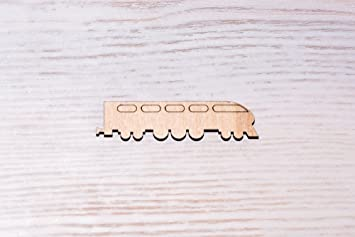 Juego de 10 moldes de madera para tren, corte láser, recortes de madera,