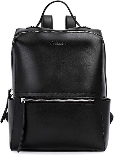 New Women Genuine Real Cow Leather Backpack handbag Travel Bag Handbag Black