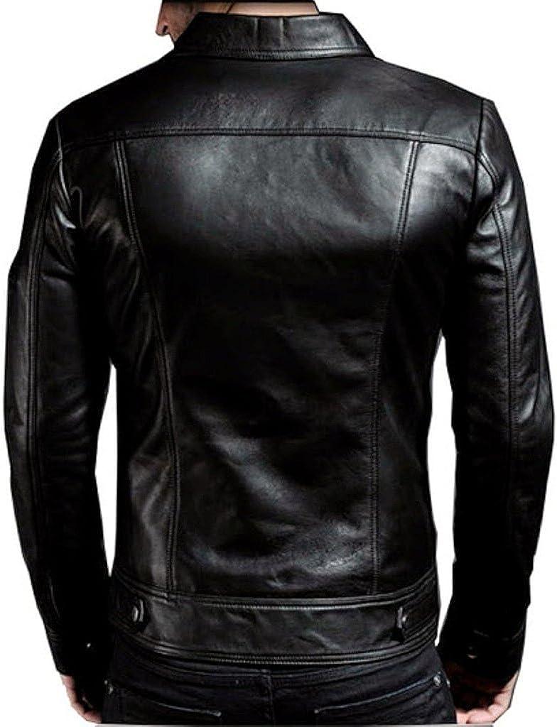 Men Leather Jacket Slim Fit Biker Motorcycle Genuine Cow Leather Jacket LFC658