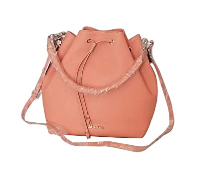 0b52e4e52e2 CALVIN KLEIN WHITE LABEL SCARLETT CONVERTIBLE DRAWSTRING BUCKET BAG:  Handbags: Amazon.com